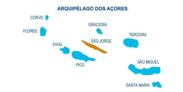 mapa das ilhas dos açores Where are we | Aventour   Azores Adventures mapa das ilhas dos açores