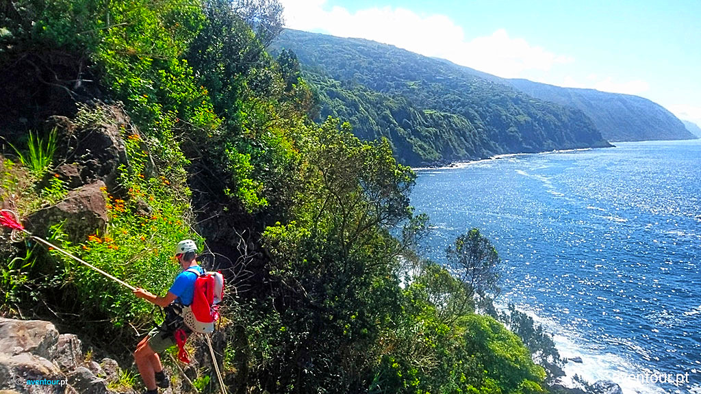 Abseiling in Sao Jorge Island - Azores