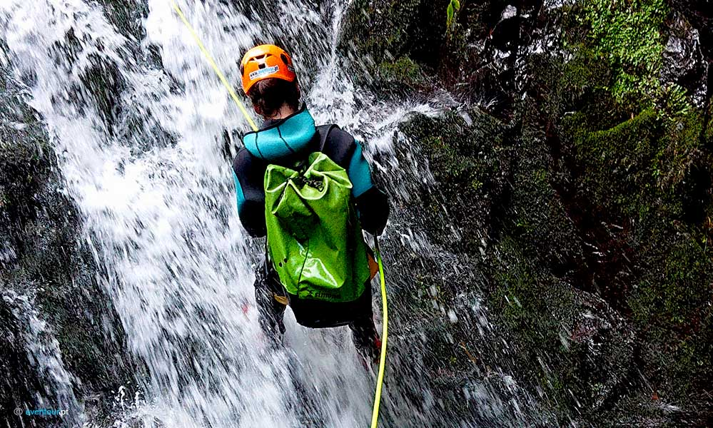 Canyoning in São Jorge Island in Azores
