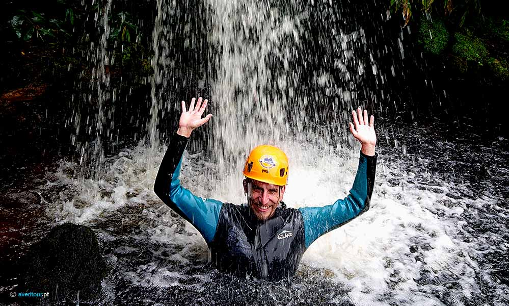 Canyoning Baptism in Sao Jorge Island in Azores