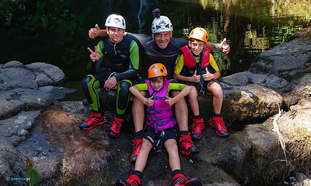 Canyoning Family in Sao Jorge Island in Azores