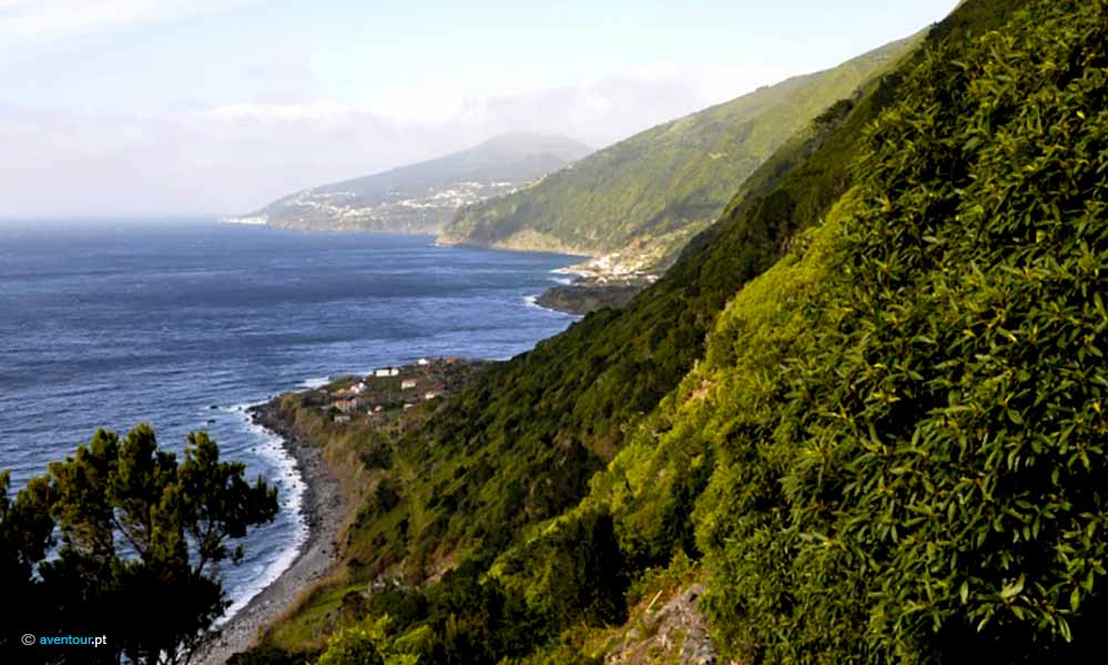 South Route Hiking Trail in Sao Jorge Island in Azores
