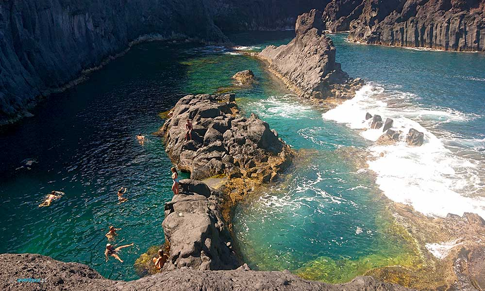 visit natural swimming pools in São Jorge Island in Azores